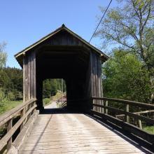 Covered bridge - Berta Rd. off Elk River Rd.