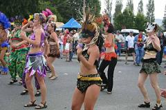 Samba Dancers. In some parade, somewhere in Humboldt County.